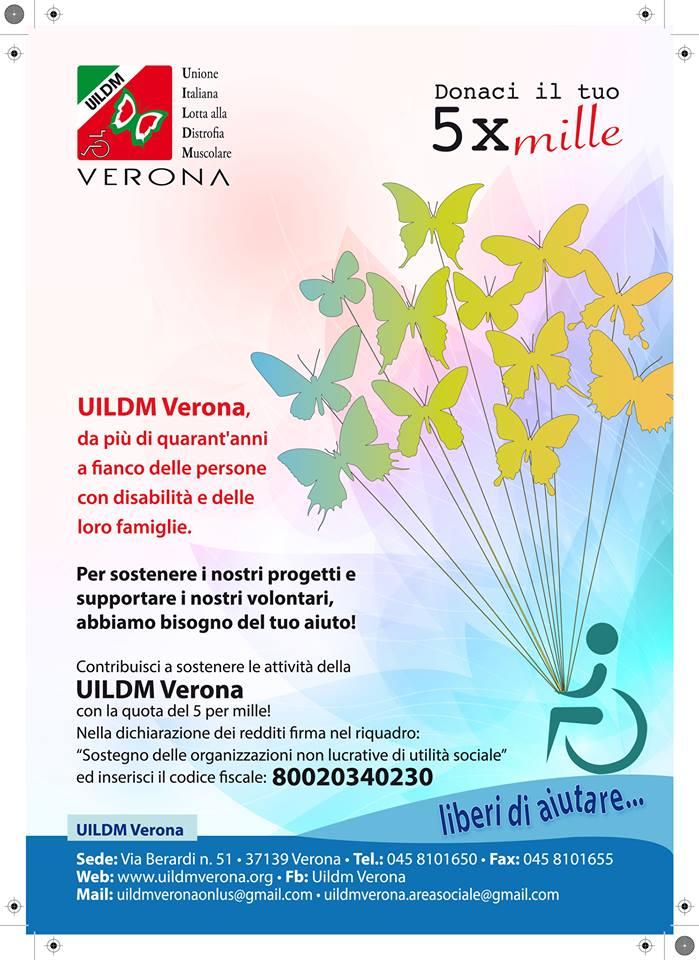 Un sostegno importante a Uildm Verona con il 5 per 1000